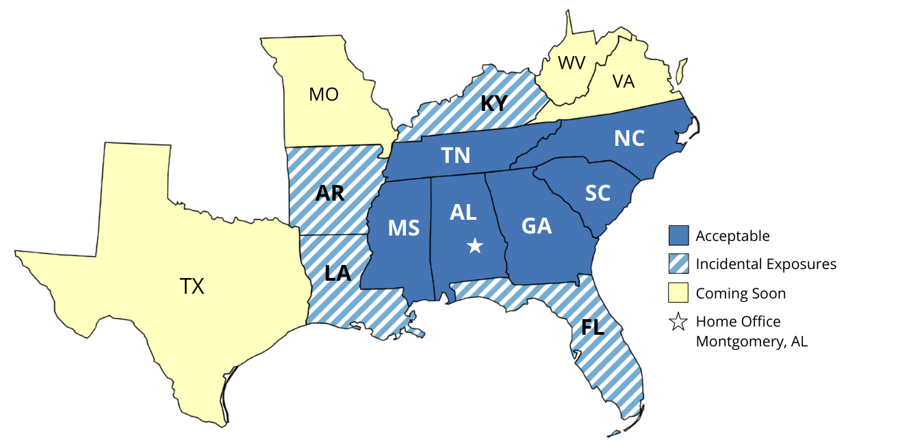 AIA Workers' Compensation Program Territory
